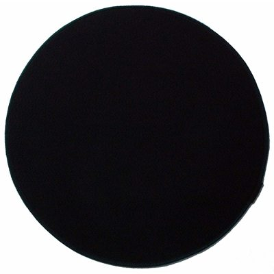 Dot stolsdyna svart läder