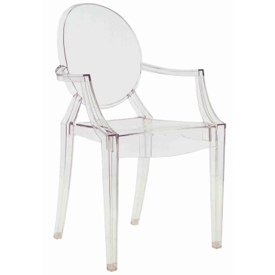 Louis Ghost stol, transparent