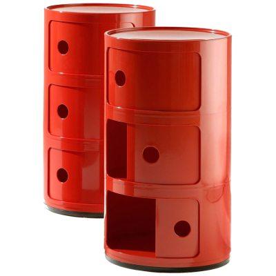 Componibili 3-fack röd