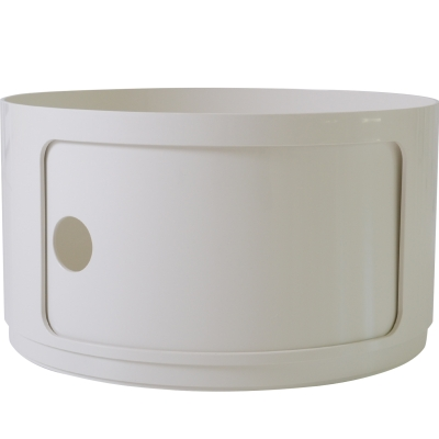 Componibili byggbar rund hög modul vit