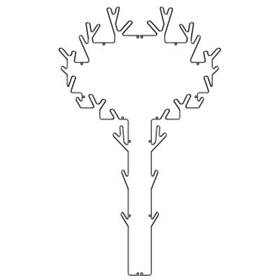 Bild av Tree Hanger hängare, svart