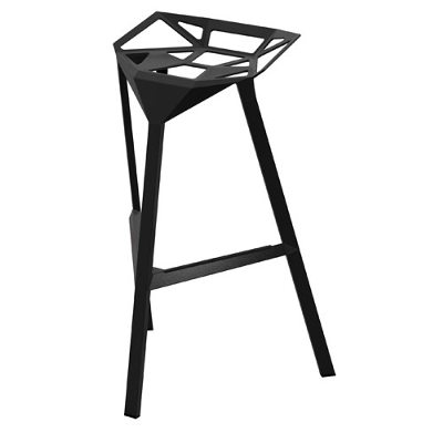 Stool_One barstol medium svart