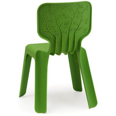 Alma barnstol grön