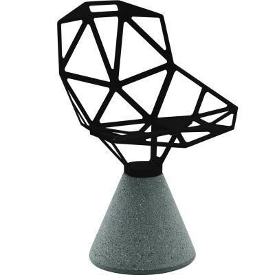 Chair_One cementfot fast fot svart