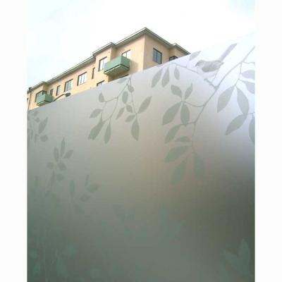 Fönsterfilm Löv 48×120 cm grön