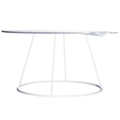 Breeze bord 80 cm, med våg, vit