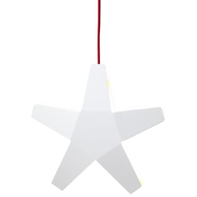 Stjärna vit 400 röd sladd