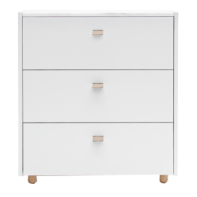 Loft byrå TE3, ljusgrå/vit marmor