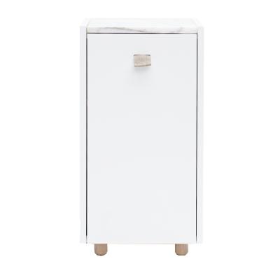 Loft sängskåp TC1, vit/vit marmor