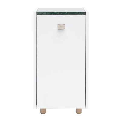 Loft sängskåp TC1, vit/grön marmor