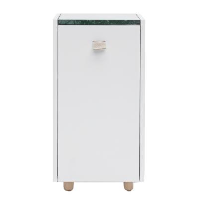 Bild av Loft sängskåp TC 1, ljusgrå/grön marmor