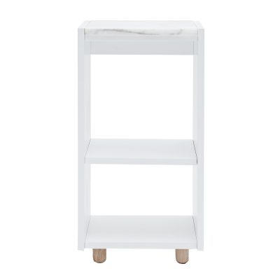 Loft sängskåp TC, vit/vit marmor
