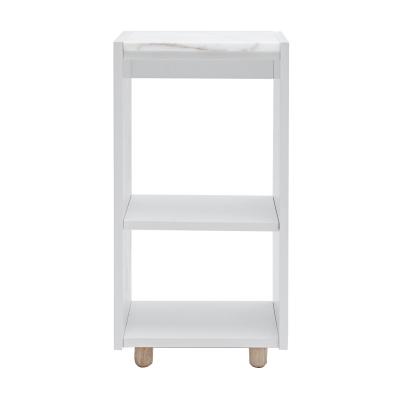 Bild av Loft sängskåp TC, ljusgrå/vit marmor