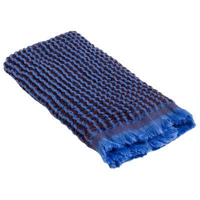 Waffle handduk 50x70, blå