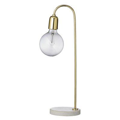 Bild av Bloomingville bordslampa, marmor/mässing