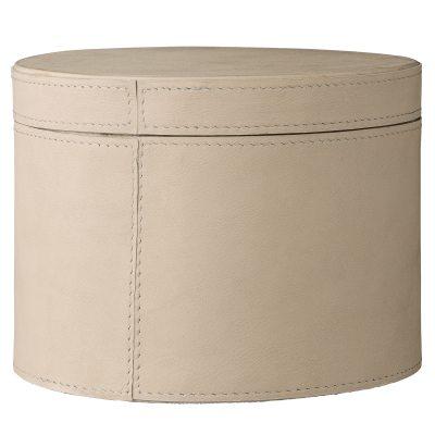 Leather förvaringsask L, läder