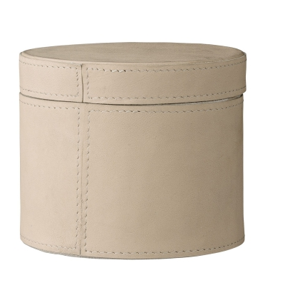 Leather förvaringsask S, läder