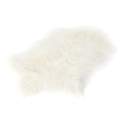 Longhair fårskinn 70x110, vit