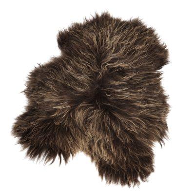 Longhair fårskinn 70x110, brun