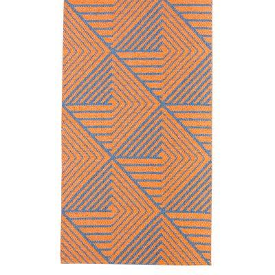 Stubbe matta 50x70, orange/denim