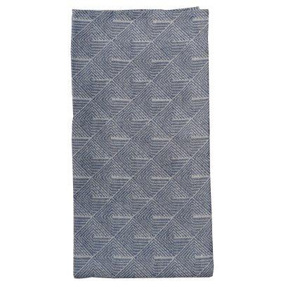 Stubbe kökshandduk 50x70, blå/vit