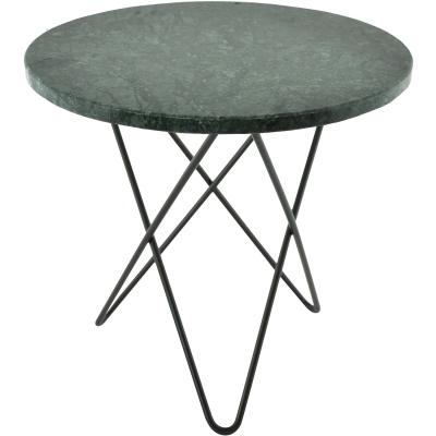 Bild av Mini O sidobord, grön marmor/svart