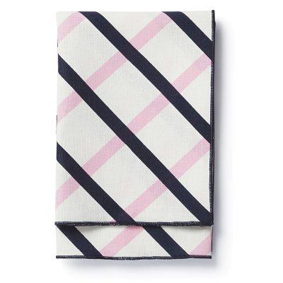 Quilt servett, mörkblå/vit