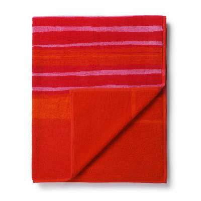 Rötti badhandduk 75x150, röd/rosa