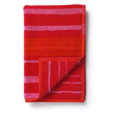 Rötti gästhandduk 30x50, röd/rosa