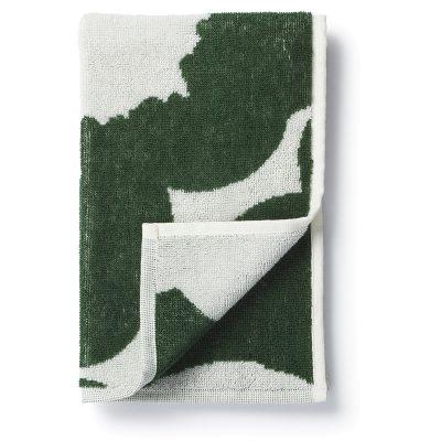 Unikko gästhandduk 30x50, vit/grön