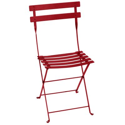 Bistro Metal stol poppy red