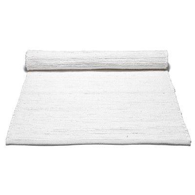 Bild av Cotton matta med kant 60x 90, vit