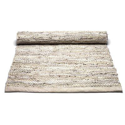 Leather matta med kant 200×300 beige