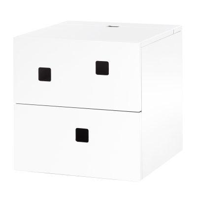 Bild av Peep S 1 vägghängt sängbord, vit/ask