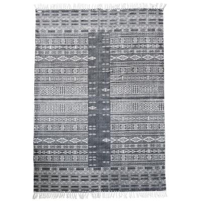 Julia matta 160x230 cm, svart/vit