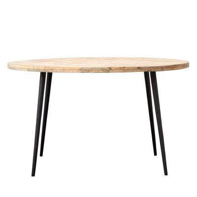 Club matbord Ø130, ljust trä