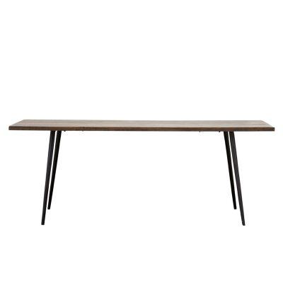 Club matbord, mörkt trä