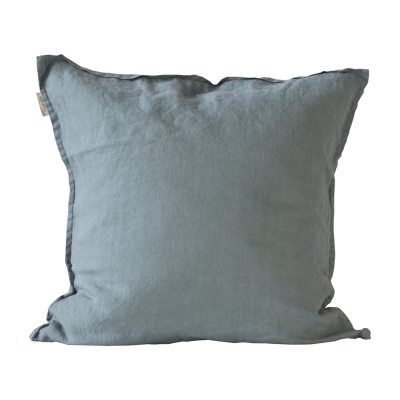 Bild av Washed Linen kuddfodral 65x 65, dusty blue