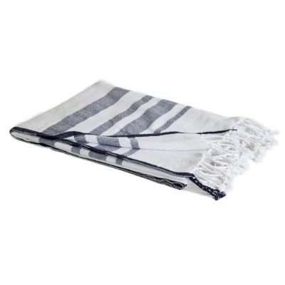 Jylland filt, vit/blå