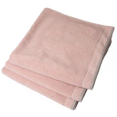 Dirty gästhandduk 50x30, pink blush/light grey