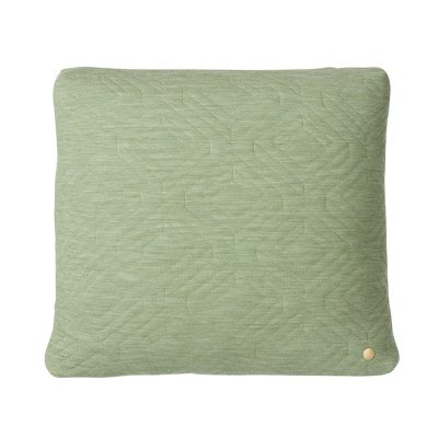 Quilt kudde 45x45, grön