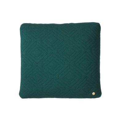 Quilt kudde 45x45, mörkgrön
