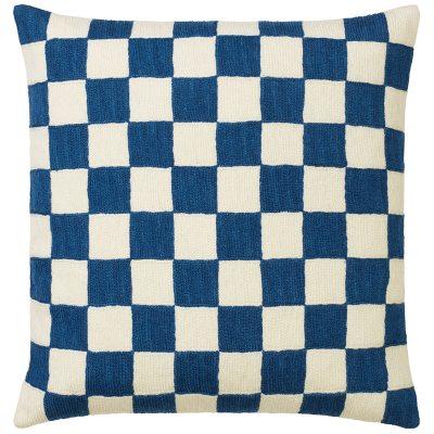Mysore kuddfodral, blå/vit