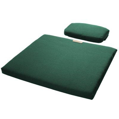 Sittdyna + Nackkudde A3, grön