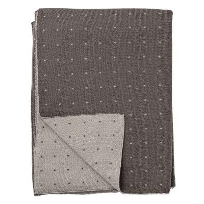 Knitted pläd grå