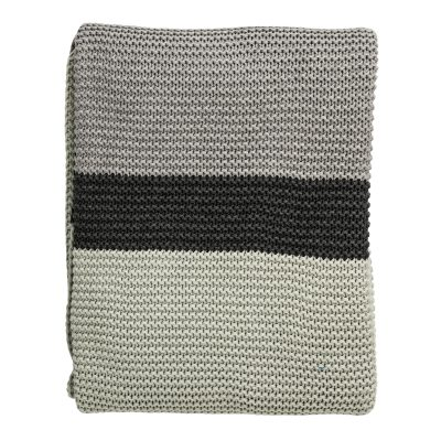 Bild av Knitted pläd, mint/grå