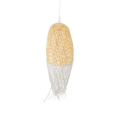 Bild av Woven taklampa 75 cm, natur/vit