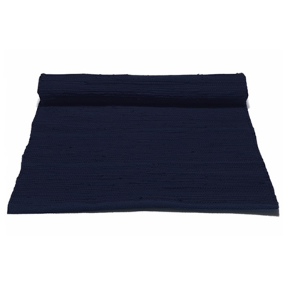 Bild av Cotton matta med kant 170x 240, deep ocean blue
