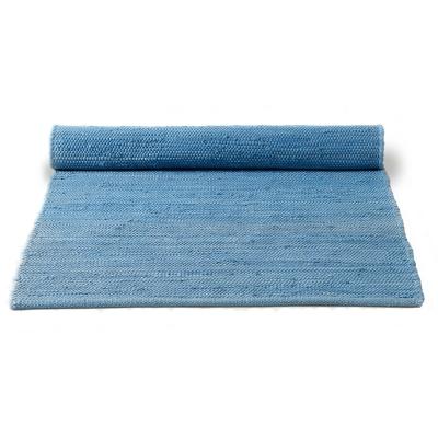 Cotton matta med kant 140×200 eternity blue
