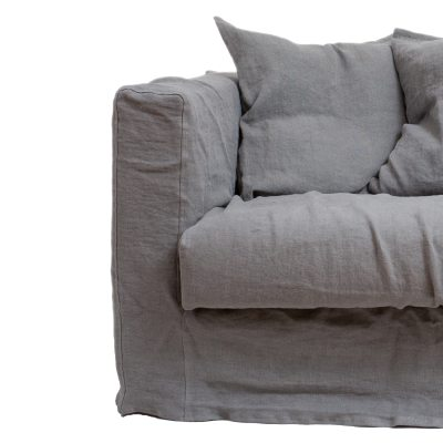 Le Grand Air Loveseat klädsel Smokey Granite